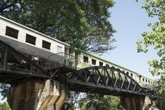 TAJLANDIA KANCHANABURI KOLEJOWEGO mosta ŚMIERTELNA rzeka KWAI Obraz Royalty Free
