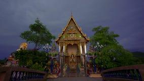 Tajlandia, Koh Samui 20 2014 Lipiec Buddyjska pagoda zdjęcie wideo