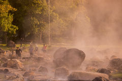 TAJLANDIA LAMPANG JAESORN HOTSPRINGS Zdjęcia Stock