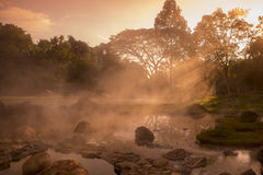 TAJLANDIA LAMPANG JAESORN HOTSPRINGS Zdjęcia Royalty Free