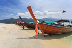 Tajlandia longtail łódź Obraz Royalty Free