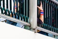 Tajlandia ludzi protestacyjna ręka. Obrazy Royalty Free