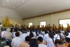 Tajlandia ludzie uczestniczą w rocznej robi ceremonii Obrazy Stock