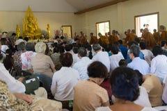 Tajlandia ludzie uczestniczą w rocznej robi ceremonii Obraz Stock