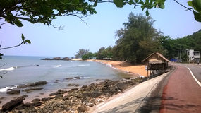 Tajlandia: Malutki dom na nadmorski widoku Obrazy Stock