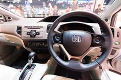 Honda Obywatelski hybryd na pokazie Fotografia Stock