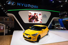 Hyundai Veloster na pokazie Zdjęcia Stock
