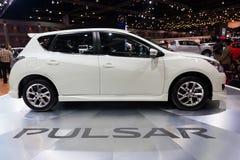 Nissan Pulsar na pokazie Obrazy Royalty Free