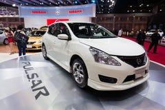 Nissan Pulsar na pokazie Obraz Stock