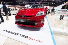 Toyota Prius TRD Sportivo na pokazie Obraz Stock