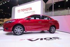Wszystkie nowy Toyota Vios na pokazie Obrazy Royalty Free