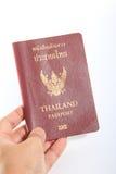 Tajlandia paszport na białym tle Zdjęcia Stock