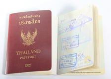 Tajlandia paszport na białym tle Fotografia Royalty Free