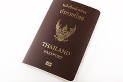 Tajlandia paszport odizolowywający Fotografia Stock