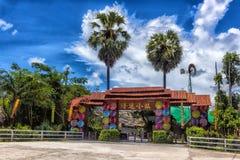 Tajlandia, Pattaya, 27,06,2017 łuk - wejście wioska Obrazy Royalty Free