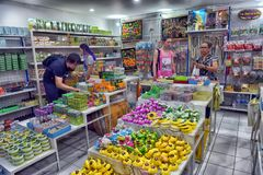 Tajlandia, Pattaya, 27 06 2017 sklep z mydłem i maściami na th Obraz Royalty Free
