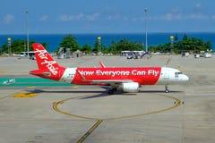 Tajlandia Phuket - 01/05/18 Samolot lotnicza firma obrazy royalty free