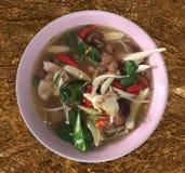Tajlandia pieczarkowa polewka Obraz Stock