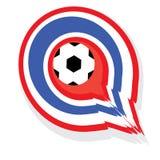 Tajlandia podskakiwał piłkę w cel ilustracja wektor