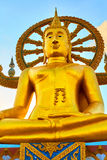 Tajlandia punkt zwrotny Duża Buddha świątynia Buddyzm religia Tou Zdjęcie Stock