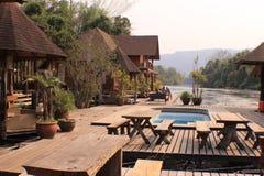 Tajlandia rocznika basenu willi ładny widok obrazy royalty free