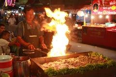 Tajlandia rynku kucharz Obraz Royalty Free