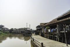Tajlandia Rzeczna kanałowa wioska Zdjęcie Stock