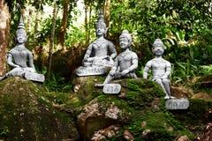 Tajlandia Statuy W Tajnym Buddha ogródzie W Koh Samui buddhism Obrazy Royalty Free