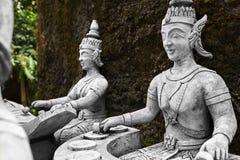 Tajlandia Statuy W Tajnym Buddha ogródzie W Koh Samui buddhism Zdjęcia Royalty Free