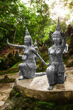 Tajlandia Statuy W Tajnym Buddha ogródzie W Koh Samui buddhism Obraz Stock