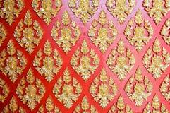 Tajlandia sztuki wzór świątyni ściana Zdjęcia Royalty Free