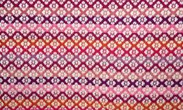 Tajlandia tkaniny - Ornamentuje tekstury lub diament tekstury Obraz Stock