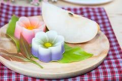 Tajlandia tradycja, kwiatu koksu Deserowa galareta Obraz Royalty Free
