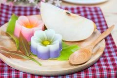 Tajlandia tradycja, kwiatu koksu Deserowa galareta Zdjęcie Royalty Free