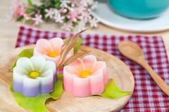 Tajlandia tradycja, kwiatu koksu Deserowa galareta Fotografia Royalty Free