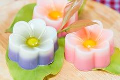 Tajlandia tradycja, kwiatu koksu Deserowa galareta Fotografia Stock