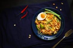 Tajlandia tradycyjna kuchnia, Som tum, Korzenna sałatka, melonowiec sałatka, Korzenny jedzenie zdjęcie royalty free