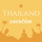Tajlandia wakacje plakat Obrazy Stock