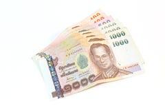 Tajlandia waluta w postaci banknotów Zdjęcia Royalty Free