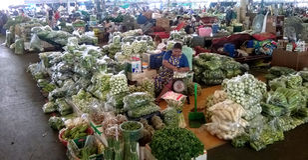 Tajlandia: Warzywa Halni w hurtowym rynku Obrazy Stock