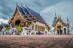 Tajlandia ?wi?tynia wymieniaj?ca ?Wat meliny Salee Sri Muang Gan Wat zakazu melina ? zdjęcie royalty free