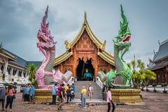 Tajlandia ?wi?tynia wymieniaj?ca ?Wat meliny Salee Sri Muang Gan Wat zakazu melina ? zdjęcia stock