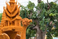 Tajlandia świeczki festiwal w Nakhon Ratchasima Obraz Stock
