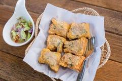 Tajlandia wieprzowiny babeczek jedzenie smażyć zakąski, przekąski, Smażyli wieprzowin babeczki Obraz Royalty Free