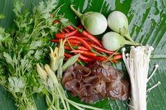 Tajlandia wyprodukowany lokalnie warzywa Fotografia Royalty Free