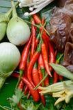 Tajlandia wyprodukowany lokalnie warzywa Obrazy Royalty Free