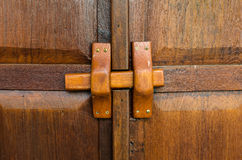 Tajlandia wystroju tradycyjny stary drewniany drzwiowy tło Fotografia Stock