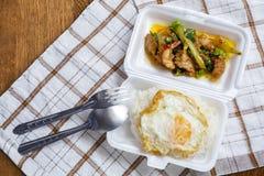Tajlandia yummy lokalny jedzenie na ulicie resturant obrazy royalty free