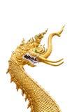 Tajlandia złoty smok Obraz Royalty Free
