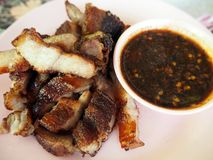 Tajlandzcy BBQ wieprzowiny kotleciki i Korzenny kumberland zdjęcia stock